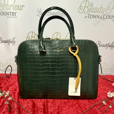 Green croc Pauls boutique bag