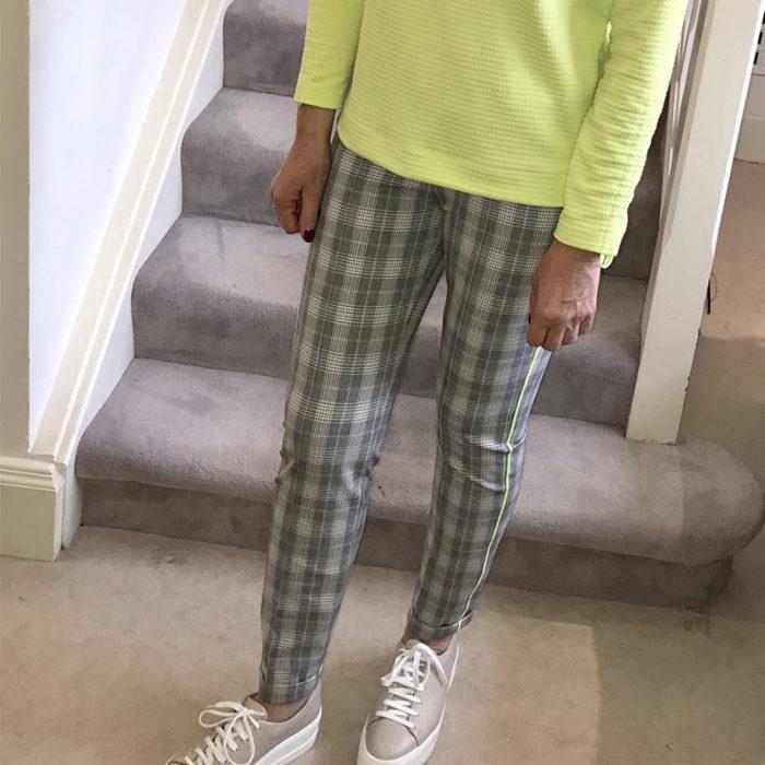Siena Lime Stripe Trouser