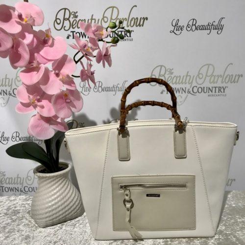 White hard handle David Jones bag
